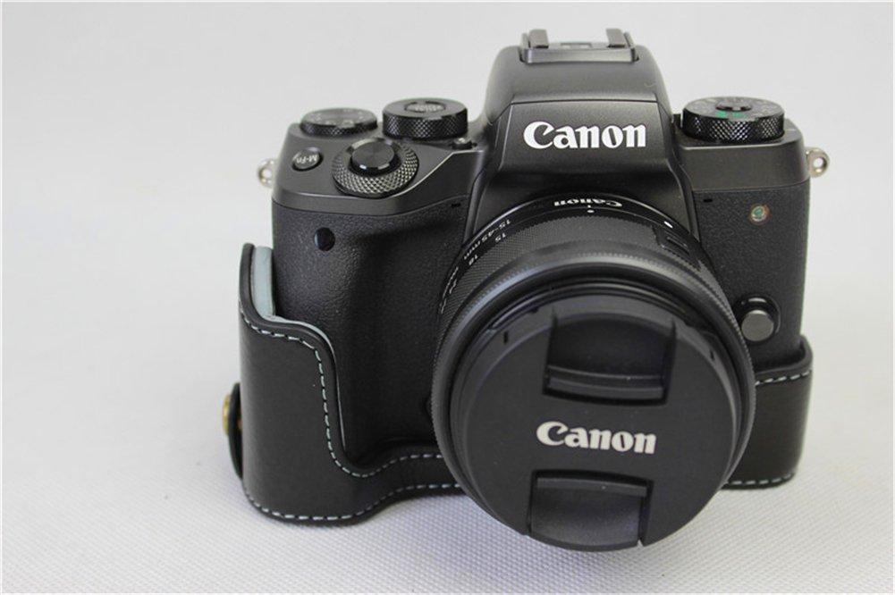 Zakao - Funda de piel auténtica para cámara Canon Eos M5 (apertura ...