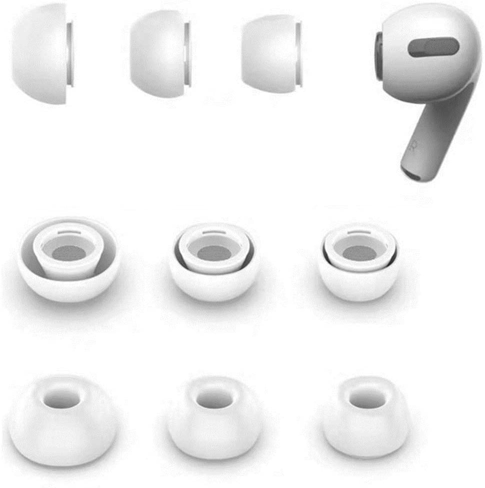 Zotech Replacement 3 Pairs Silicone Ear Tips for Apple Airpods Pro (S/M/L)