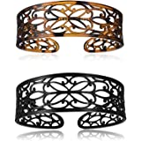 minihope headbands for women, fashion headbands for girls,Black brown, 2-Count.