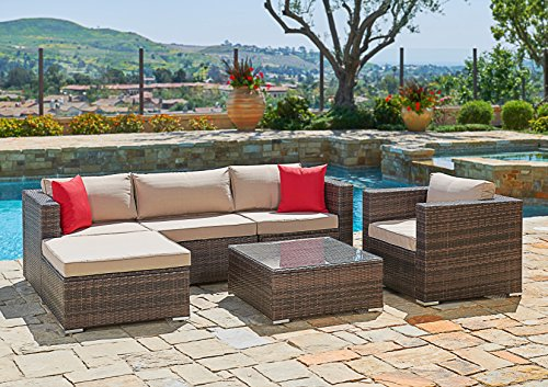 Suncrown Outdoor Furniture Sectional Sofa Chair 6 Piece  Part 50