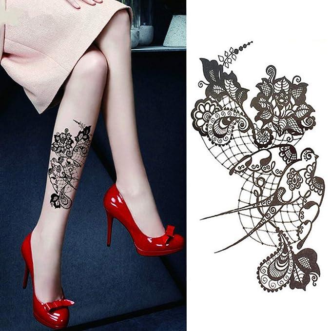 adgkitb 3 Piezas Piezas/pequeño Brazo de Flor Completa Tatuaje ...