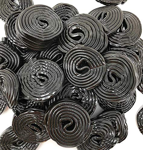 Italian Black Licorice Wheels   Bulk Candy   Natural Colors and Flavors, GMO Free   4.4 Pounds