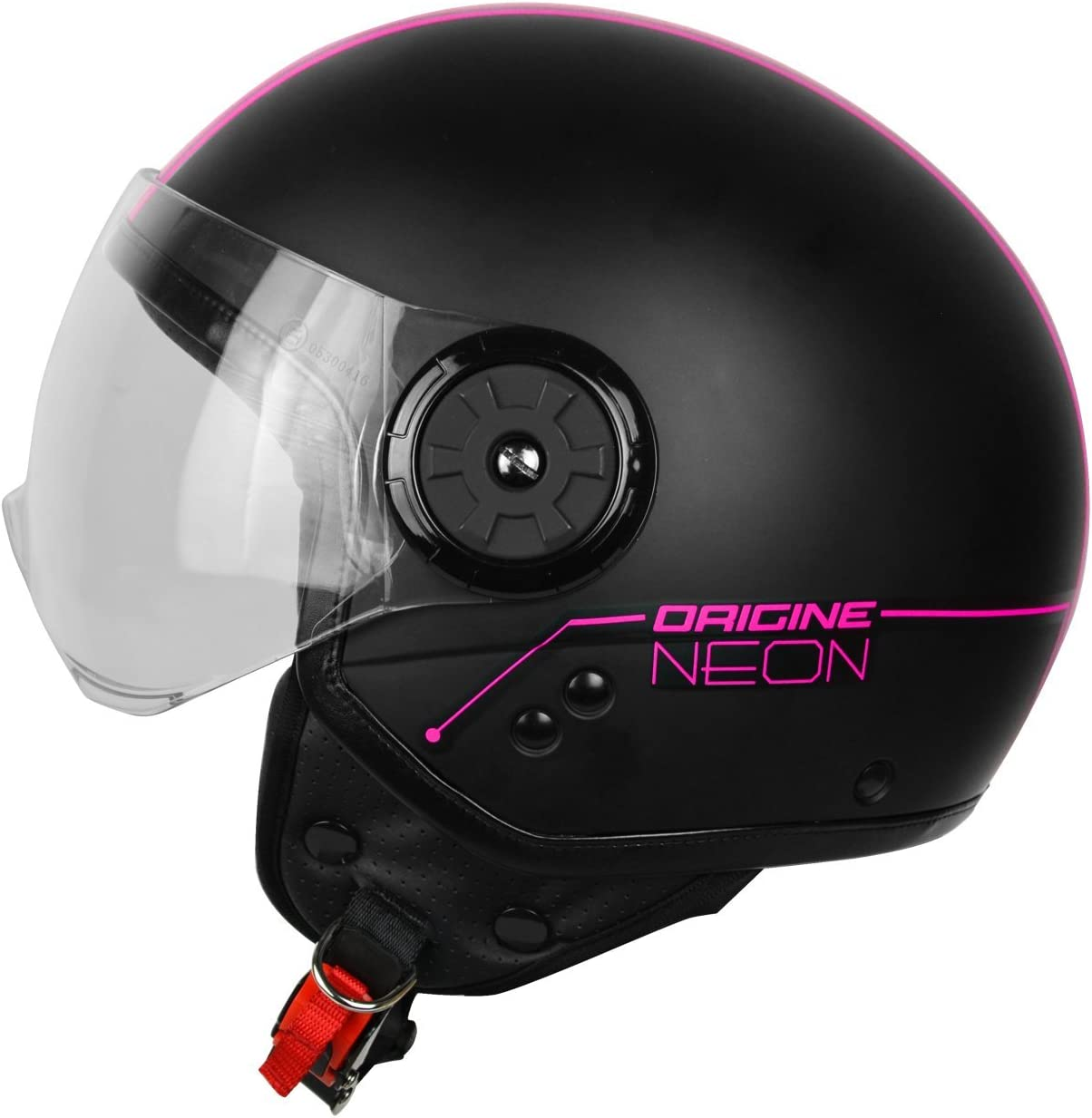 XS Origine Helmets Casco de moto 201585026400102 Neon Demi Jet fucsia