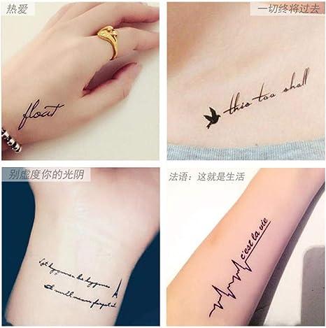 Simulación tatuaje pegatinas impermeables hombres y mujeres brazo ...
