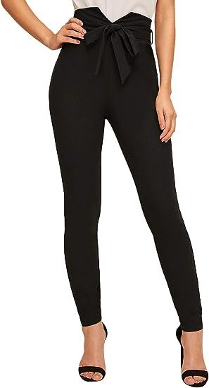 Shein Pantalones Ajustados De Cintura Alta Para Mujer Negro M Amazon Com Mx Ropa Zapatos Y Accesorios