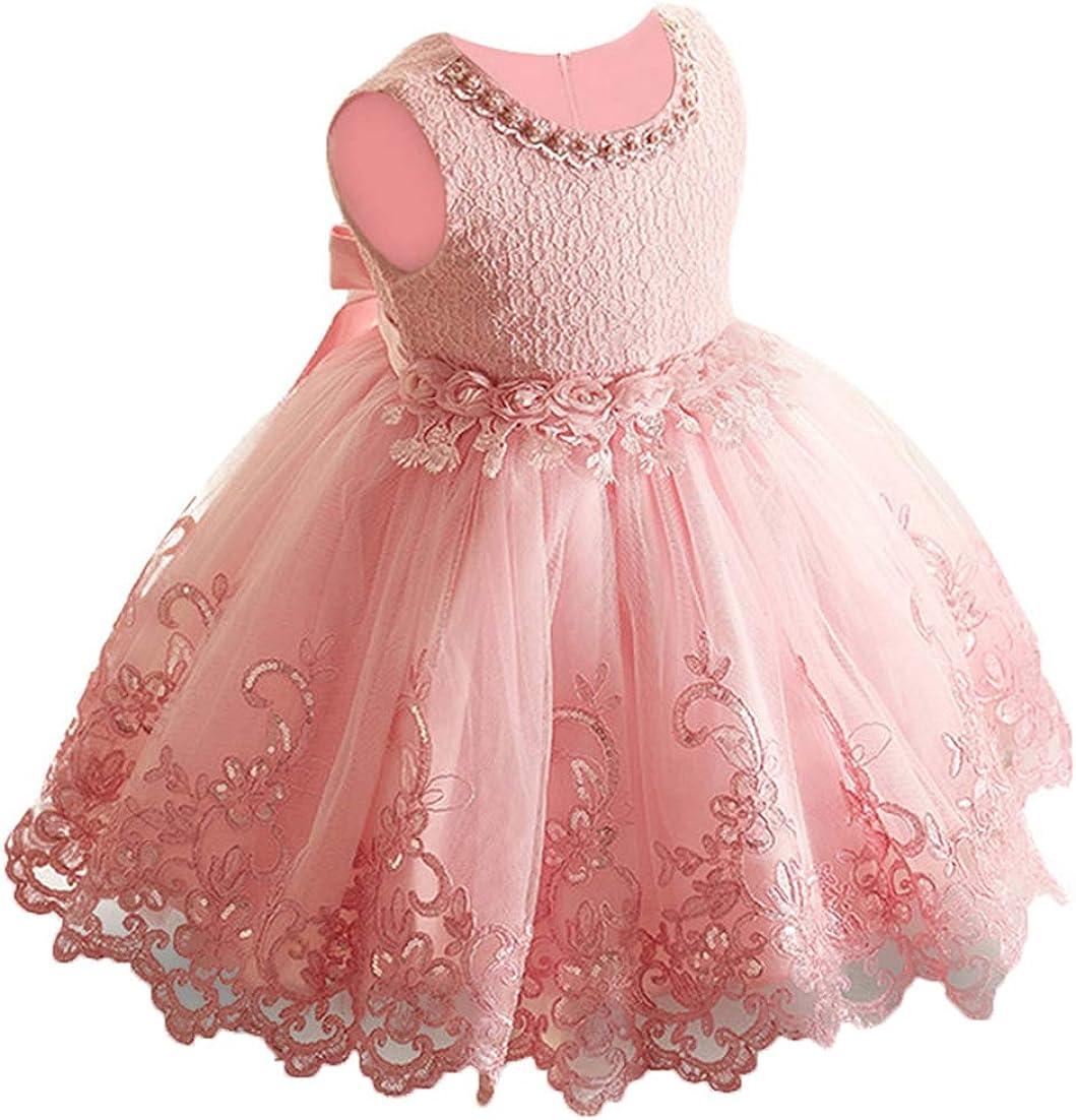 LZH Vestito da Ragazza per Bambina Abito da Battesimo da Principessa per...