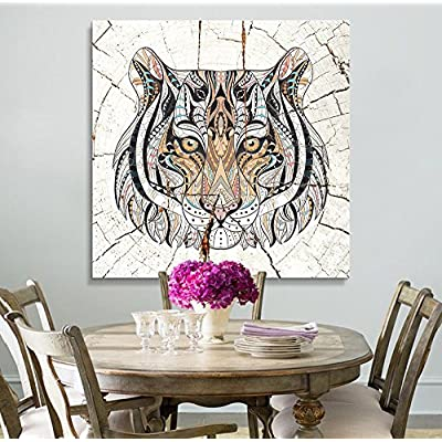 Colorful Abstract Tiger Cracked Ceramic - Canvas Art