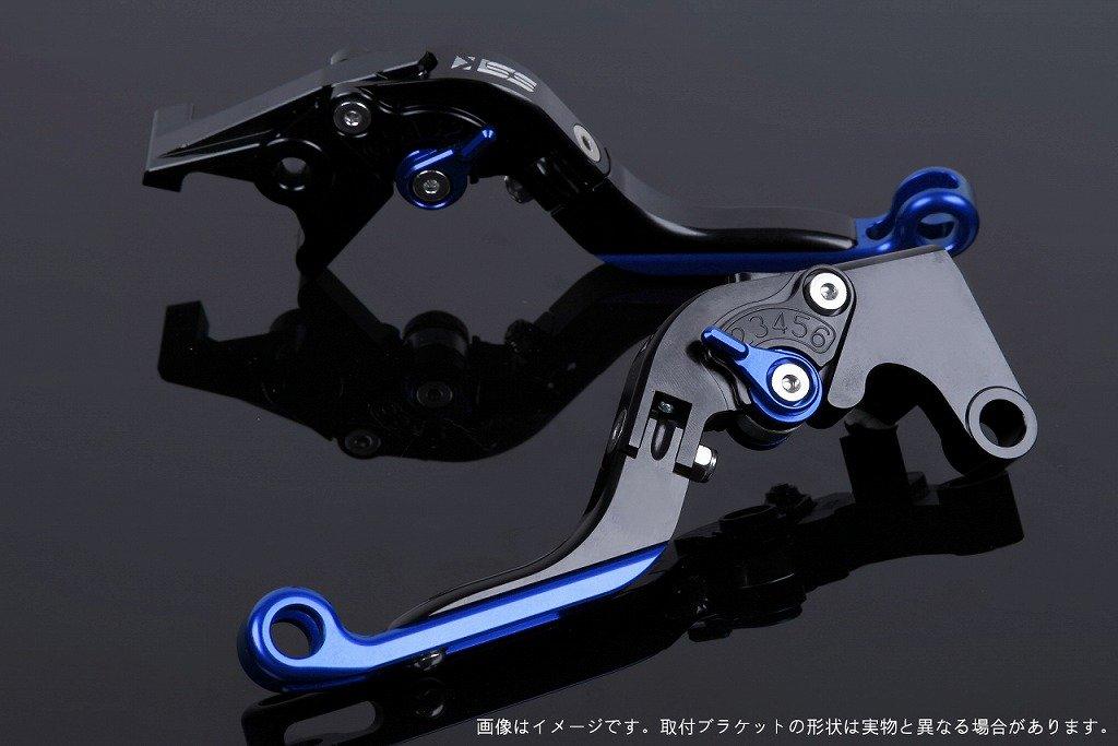 SSK アジャストレバー 可倒延長式 レバー本体カラー:ブラック アジャスターカラー:ブルー エクステンションカラー:ブルー YZF-R6 2017- YA0407165-BEBE B07MXCXW7S