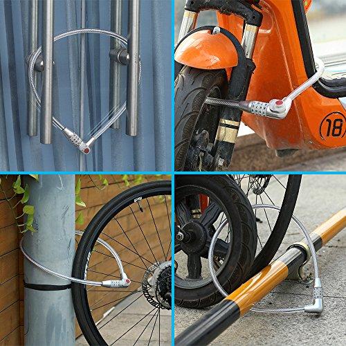 Dsteng Bike Lock Bicycle Lock Chain Resettable 4 Digit Combination Anti-Theft Bike Locks Bike Motorcycle Gate Garage Fence by Dsteng (Image #3)