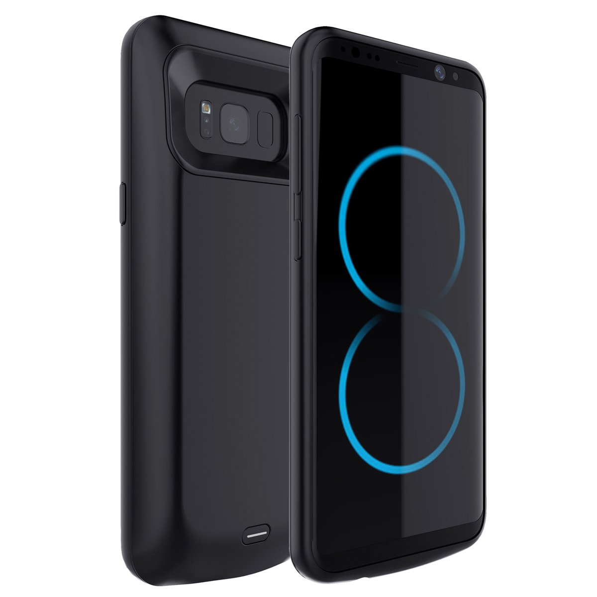Scheam Samsung Galaxy S8 Plus Battery Battery Case, Portable Charging Case for Samsung Galaxy S8 Plus Battery Extended Battery Juice Pack Power Bank ()