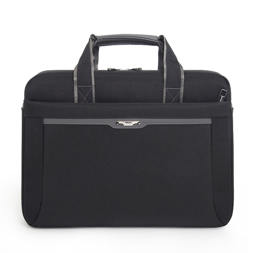 black LX Briefcase 15.6 inch Oxford cloth mens shoulder diagonal waterproof plus velvet shockproof business computer bag gray blue black casual business bag