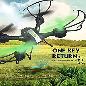 Qiyun RC Quadcopter 2.4G 6 Axis Gyro Quadcopter with Led lights Headless Mode 360 degree Rolling Drone Black Green