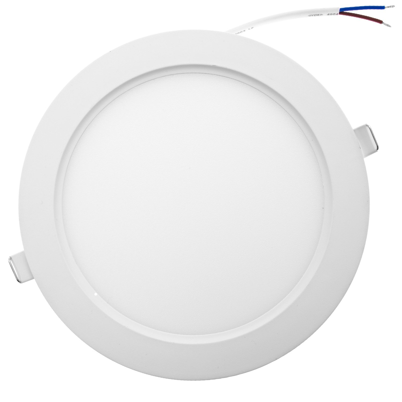 12/x 12/x 3.1/cm taloya Star 6/W faretto a LED da incasso Spot TV a schermo piatto rotondo di plastica 480/LM 230/V CEE a luce bianca diurna giorno luce bianco freddo 6000/K