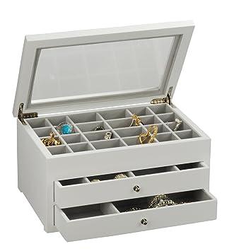 Amazon.com Earring Jewelry Box Storage Organizer (White) Home u0026 Kitchen  sc 1 st  Amazon.com & Amazon.com: Earring Jewelry Box Storage Organizer (White): Home ...