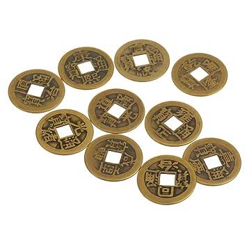 Amazonde Gazechimp 10 Stück Chinesische Glücksmünzen Glücksbringer