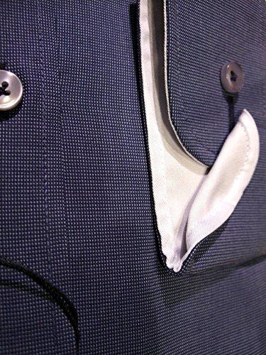 Casamoda Businesshemd blau strukturiert, Art. 342103300-100,bis HW46 leicht tailliert, HW 42-54