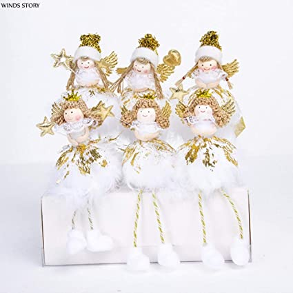 christmas angel decoration noel 2017 2pcs christmas angel doll toy adornos de navidad 2018 christmas decorations