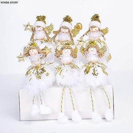 christmas angel decoration noel 2017 2pcs christmas angel doll toy adornos de navidad 2018 christmas decorations