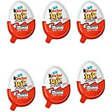6 PACK - Kinder Joy, Treat and Toy, Sweet Cream Topped with Cocoa Wafer Bites, Surprise Toy Inside, 0.7 oz (20g)