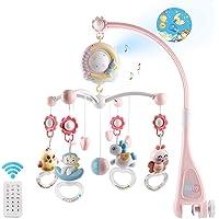 Lelestar Baby Musical Mobile Crib Med Musik Och Lampor, Timing Function, Projektion, Take-along Rattle Och Musikbox För…