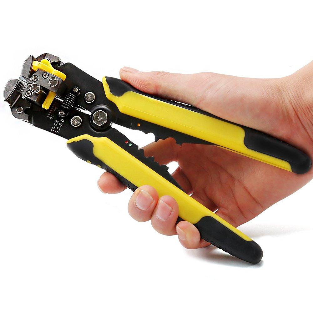 Professional 3 in 1 Self Automatic Cable Wire Stripper, Wire Striper Cutter ,Crimper Crimping Pliers Terminal Tool