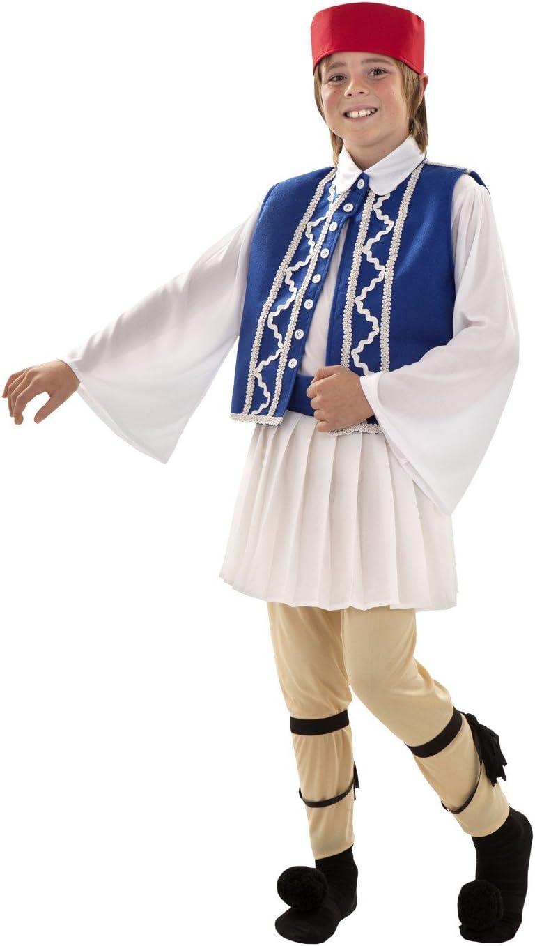 Disfraz de Griego sirtaki para niños de 3 a 4 años: Amazon.es ...