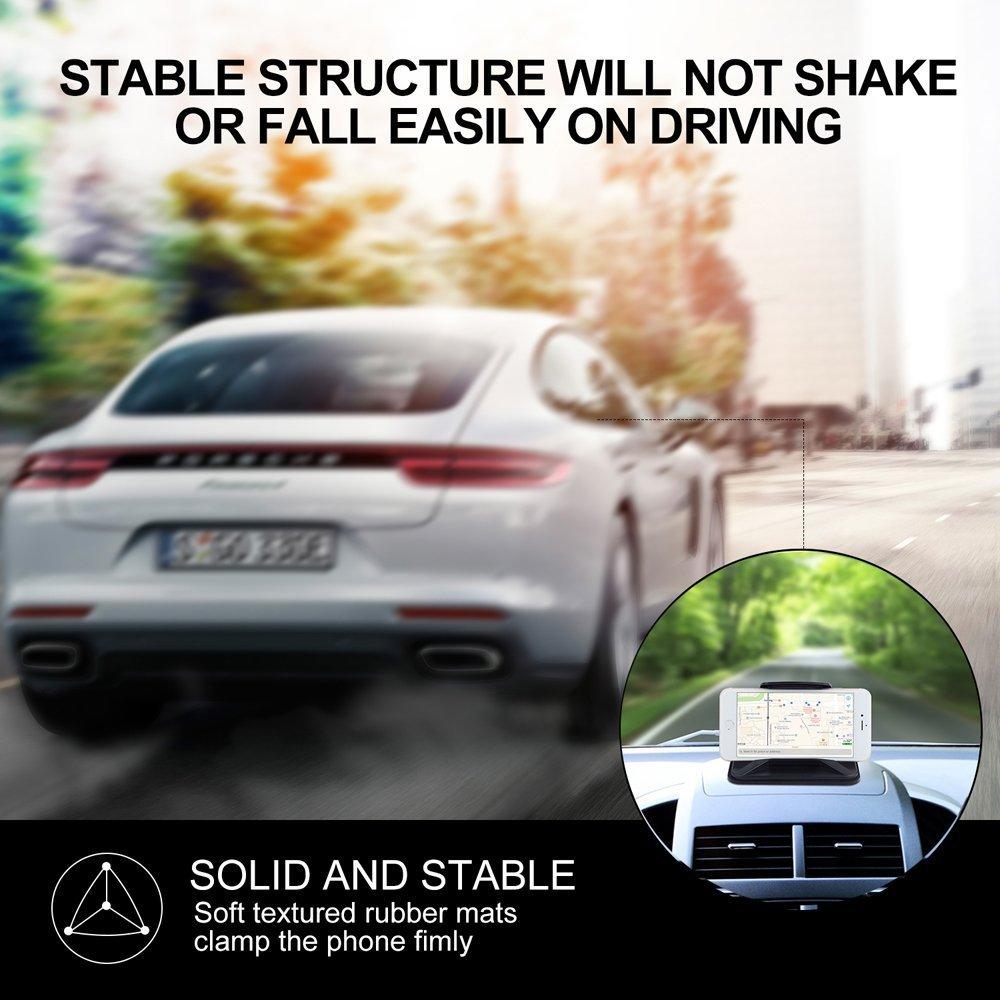 Skybaba Auto Nonslip Pad Armaturenbrett Mat Handy Desktop Standhalter Halter Halter Cradle Dock Universal f/ür Smartphones Tisch PC GPS