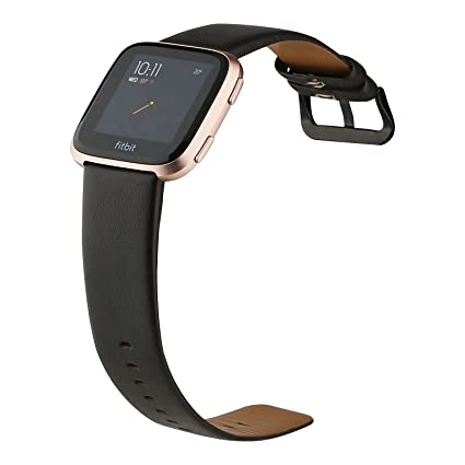 b6259c20e64 Deyo Compatible Fitbit Versa Bands Women Men Genuine Leather Straps Quick  Release Band with Classic Square