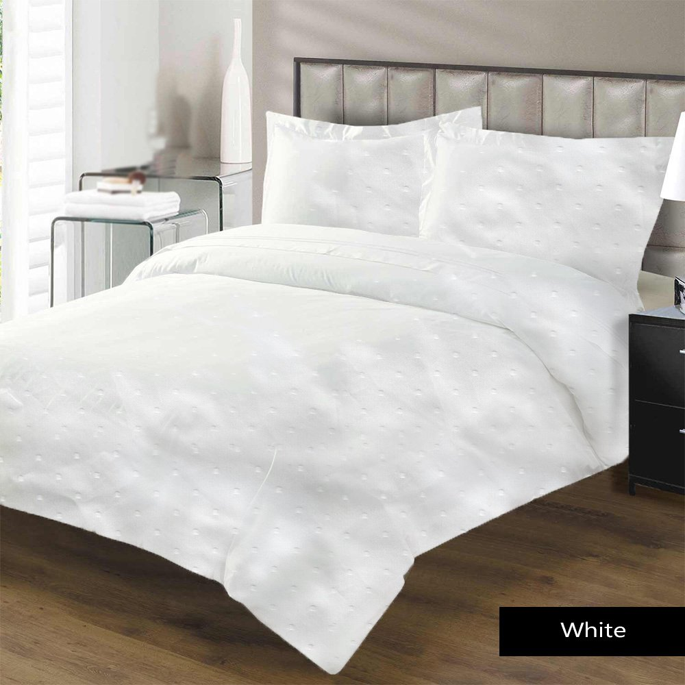 Luxurious Hypoallergenic 100% Egyptian Cotton 1200 Thread Count Swiss Dot 1Pc Duvet Cover (King / California King) By Kotton Culture