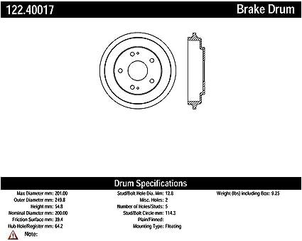 Centric Parts 122.40017 Brake Drum
