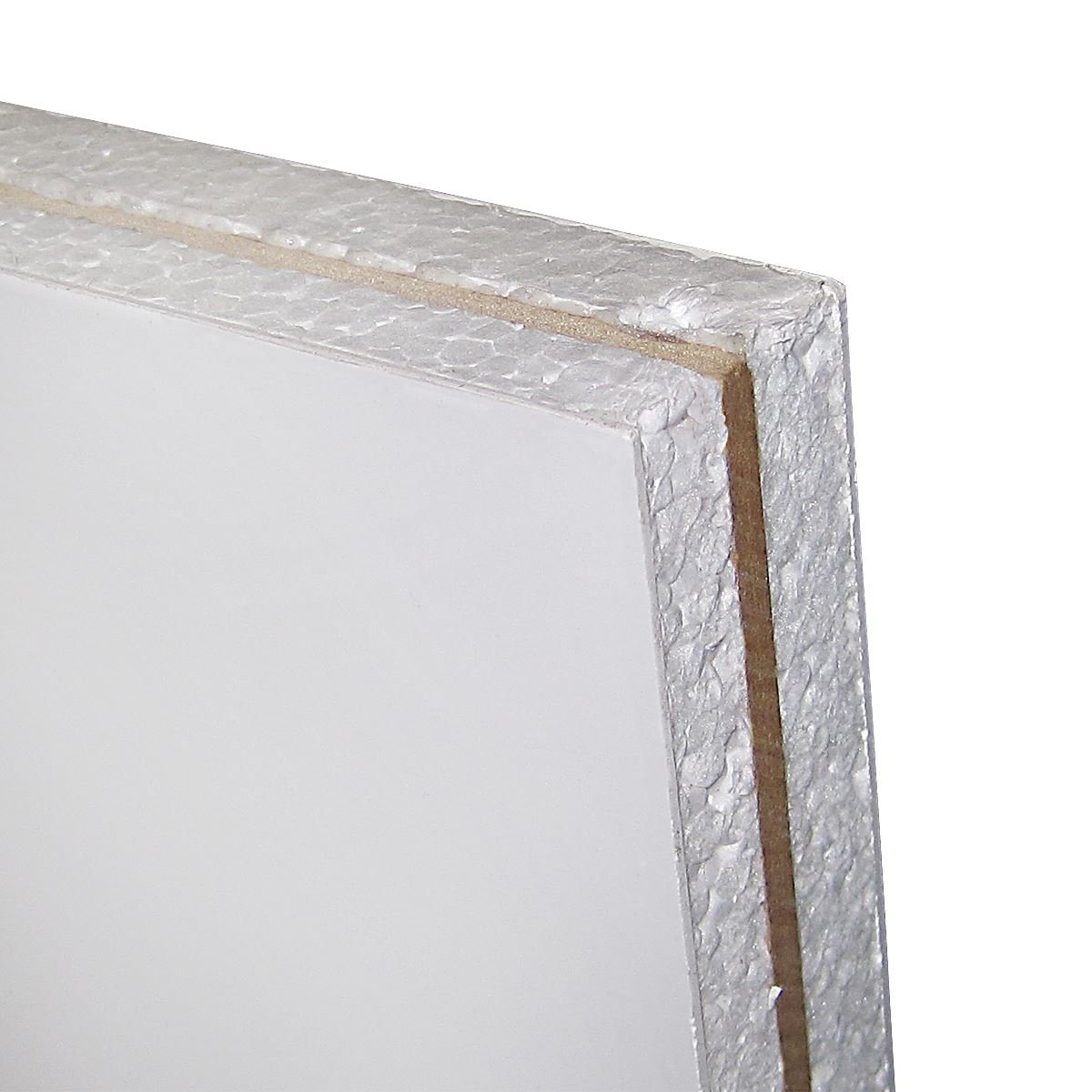 White UPVC Flat Half Door Panel MDF Reinforced (W: 750mm x H: 750mm x D: 28mm) 28mm Thick Plastic Filled Truly PVC Supplies