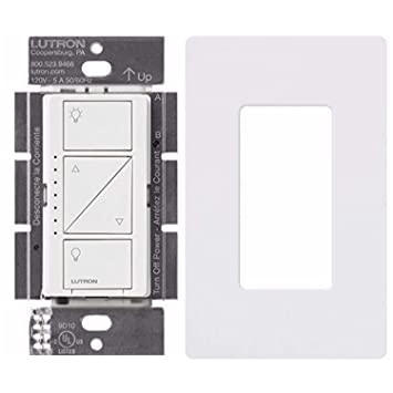Lutron PD-10NXD-WH Caseta Pro In Wall Dimmer 250W LED With Screw Less Wall Plate (White) - - Amazon.com
