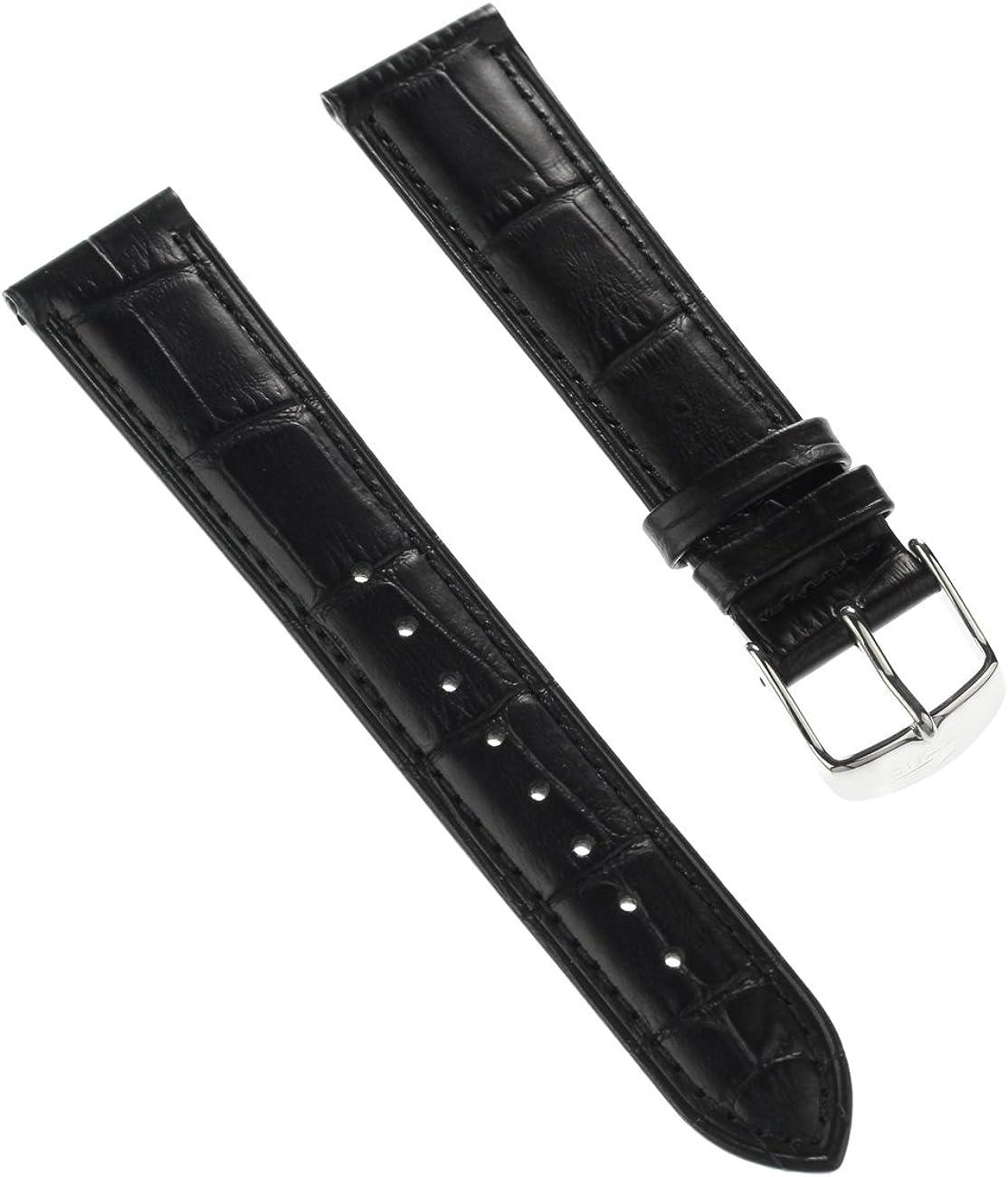 Lotus Reloj de Pulsera Fashion Material de la Correa Piel Negro para Lotus L15978, l15975Relojes