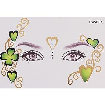 Rain Queen tatuaje temporal mujer plantilla máscara de trébol de 4 ...