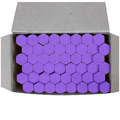 Fitfulvan 1Box of 48 Jumbo Sidewalk Chalk Hexagonal Colored Chalk Hexagonal Chalk Teaching Chalk ,Purple: Toys & Games