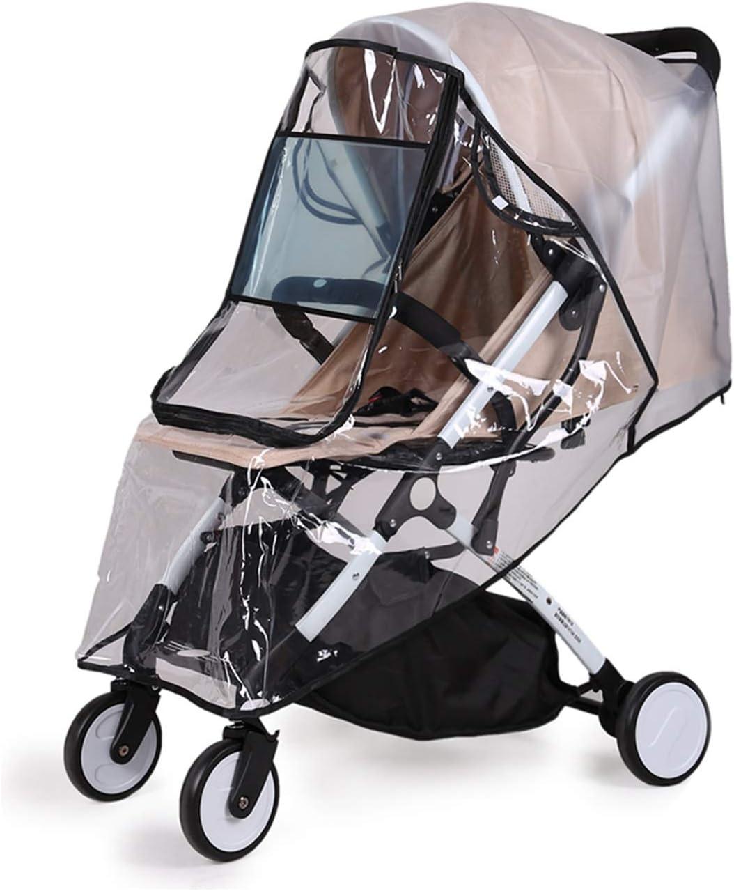 New Universal Buggy Pushchair Stroller Pram Transparent Rain Cover Baby Fast