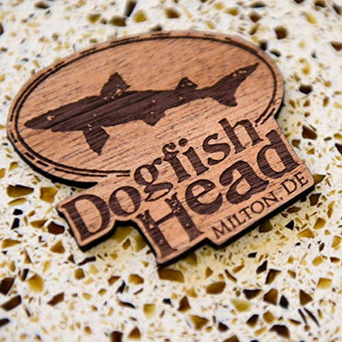 Dogfish Head Brewery - Deluxe Laser-etched Wood Magnet - 3 3/4 X 2 1/4 (Sierra Nevada Ales)
