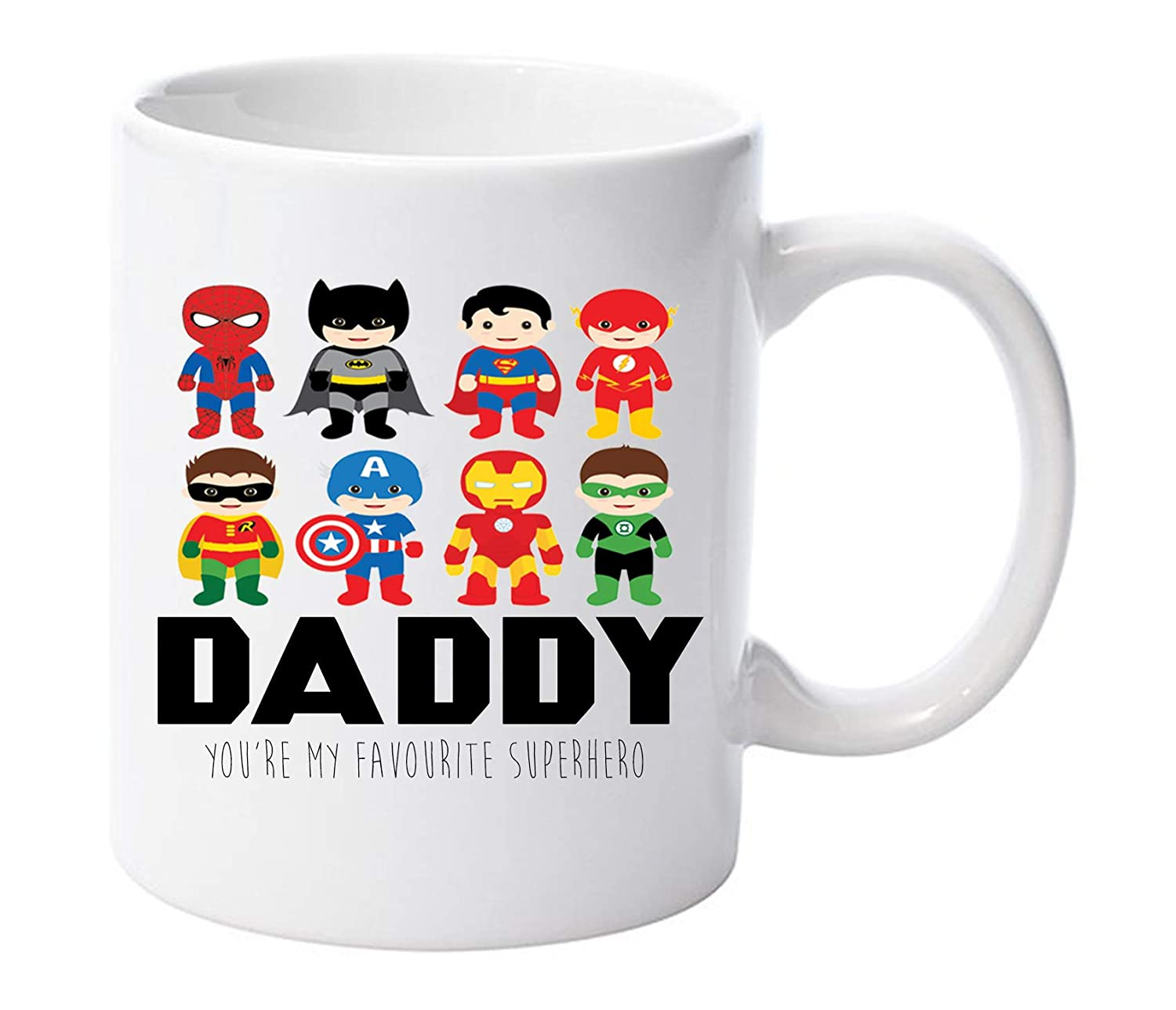 Daddy You are My Favourite Super Hero 11oz Ceramic Mug Fathers Day dad Gift ® LBS4ALL