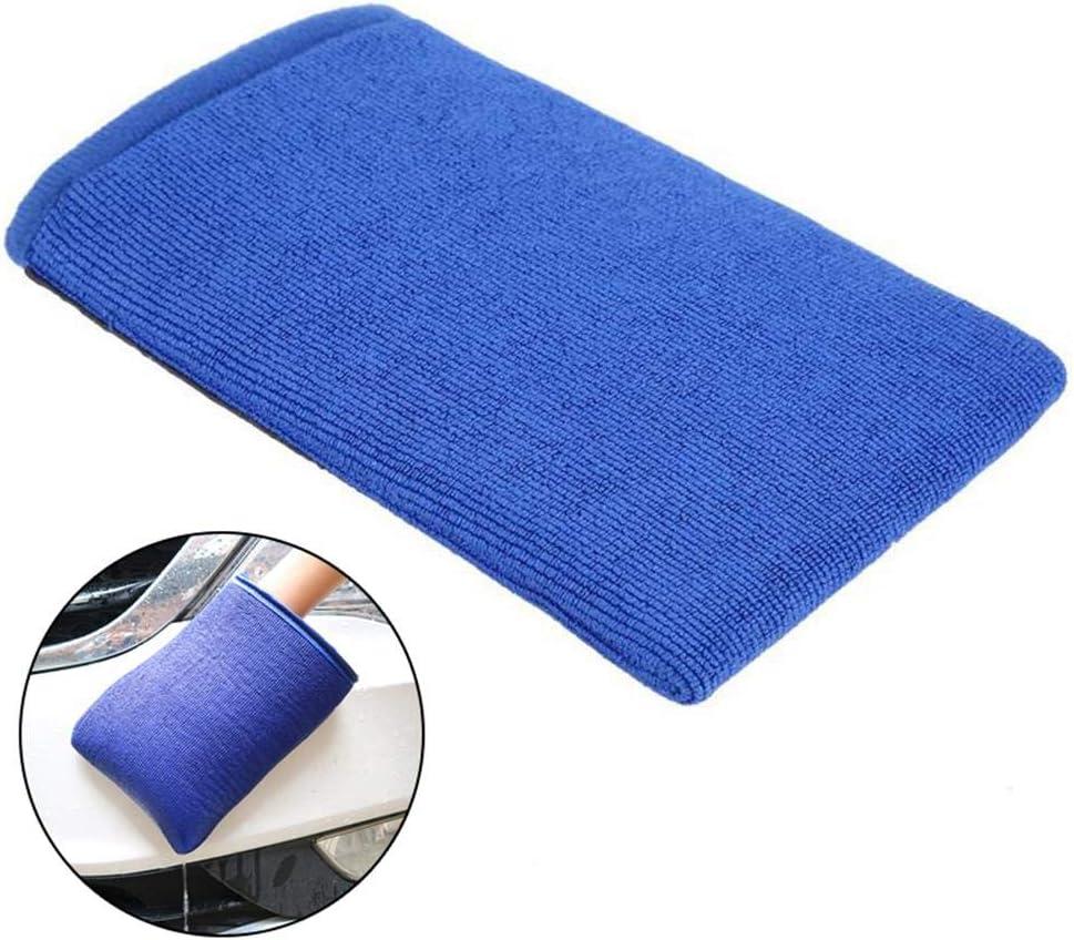 Volwco Auto Waschhandschuhe Mit Erstklassige Saugkraft Mikrofaser Handschuhe Entfernt Schnell Verschmutzungen An Lack Glas Rädern Und Mehr Blau Auto