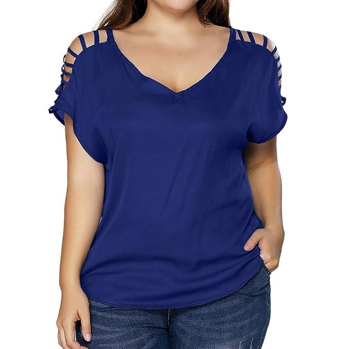 FAMILIZO Camisetas Mujer Verano Camisetas Mujer ❤️XL~5XL Blusa Mujer Elegante Camisetas Mujer Casual