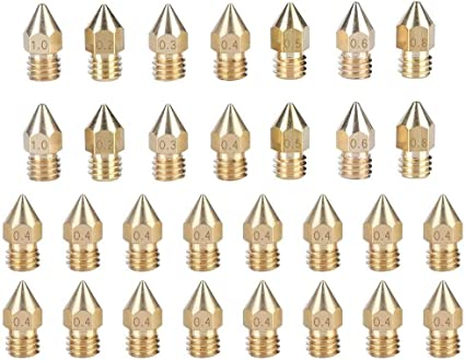 Kit de boquilla de radiador Boquillas de impresora 3D de 30 piezas ...