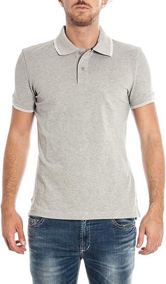 Armani Jeans Mens Slim Fit Grey Polo Shirt XL: Amazon.es: Ropa y ...