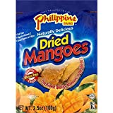 Phillippine Brand Naturally Delicious Dried Mangoes Tree Ripened 3.5 oz 10 Pack