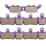 Kevlar Carbon Brake Pads ECCPP Motorcycle Replacement Brake Pads Sets Front and Rear for 2007-2012 Yamaha YZF R1 2008 2009 2010 2011
