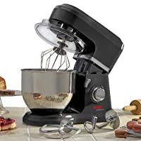 Cooks Professional 800W Electric Kitchen Stand Food Mixer 5L Bowl, 3-in-1 Dough Hook, Whisk & Beater, 2 Year Guarantee