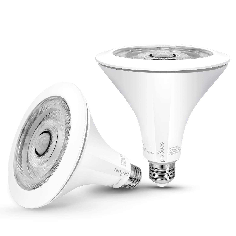 Sengled LED Flood Light with Motion Sensor & Daylight Sensor, Smart LED Light Bulb PAR38, Dusk to Dawn Bulb, Waterproof 5000K for Indoor and Outdoor Use (3rd Gen), 2 Pack