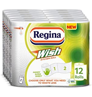 24 Rolls Total Pack of 2 x 12 2WORK Kitchen Roll White