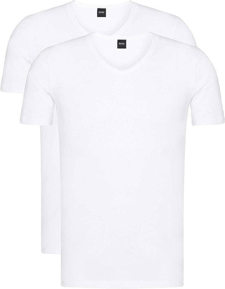 BOSS T-Shirt VN 2P CO/EL Camiseta, Blanco (White 100), M (Pack de 2) para Hombre: Amazon.es: Ropa y accesorios