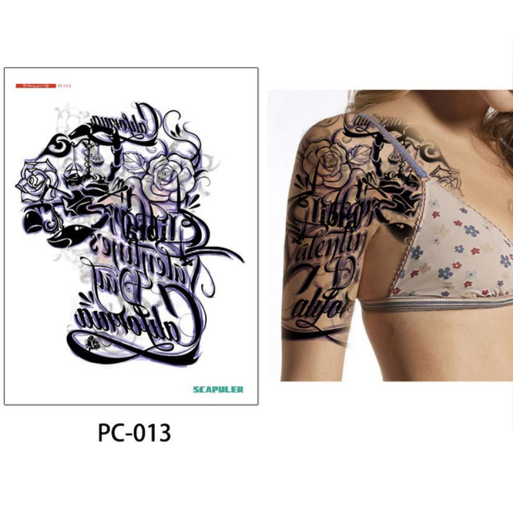 adgkitb Etiqueta engomada del Tatuaje del Brazo Medio del Hombro ...