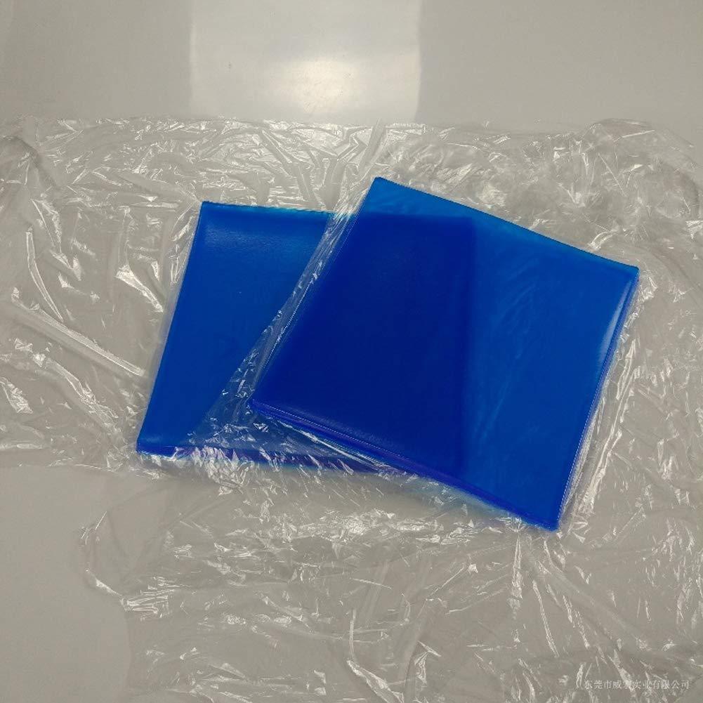 Almohadilla para asiento de motocicleta con absorci/ón de golpes en fr/ío color azul fibra el/ástica suave para motocicleta almohadilla de gel universal modificada